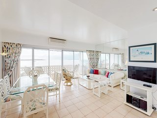 Big and bright oceanfront condo with stunning sea views from private balcony!