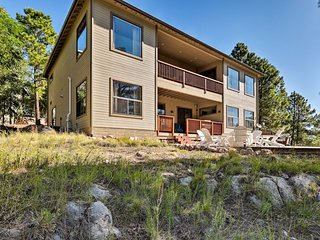 NEW! Flagstaff Home w/ Decks, Patio & Forest View!