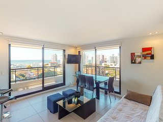 Contemporary apartment w/ water & city views plus a shared pool & fitness center